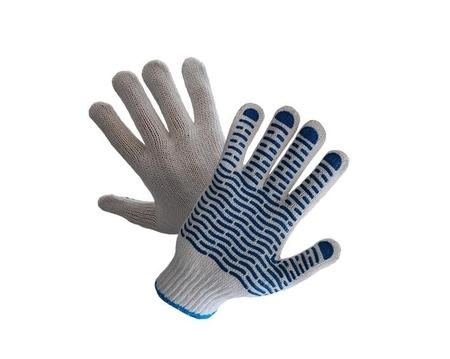 Rękawice ochronne jednostronnie nakrapiane PCV art. 452 Wave