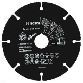 Bosch Carbide Multi Wheel tarcza tnąca z węglikami spiekanymi 125x22,23x1,0 mm 2608623013