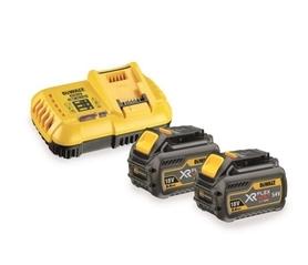 DeWalt DCB118T2-QW zestaw XR ładowarka DCB118 Flexvolt 18V + 2 akumulatory DCB546 XR Flexvolt 18/54V 6,0Ah w kartonie