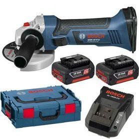 Bosch GWS 18-125 V-Li akumulatorowa szlifierka kątowa 2x4,0Ah 125 mm w L-Boxx 060193A30B