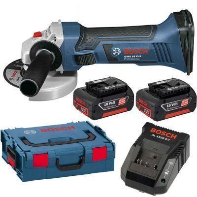Bosch GWS 18-125 V-Li akumulatorowa szlifierka kątowa 2x4,0Ah 125 mm w L-Boxx 060193A30B  (1)