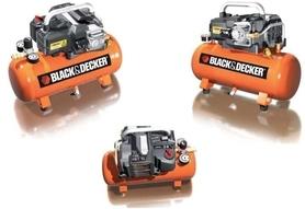 Black&Decker sprężarka bezolejowa 12 l 1,5KM 8 bar 180 l/min NKBN304BND009