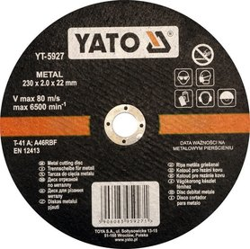 Yato YT-5927 tarcza do metalu 230x2,0x22,2 mm