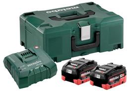 Metabo akumulatorowy zestaw podstawowy 18V 2xLiHD 8,0Ah + ASC Ultra w walizce Metaloc 685131000