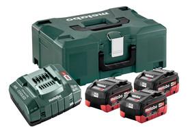 Metabo akumulatorowy zestaw podstawowy 18V 3x5,5Ah LiHD + ASC 145 w walizce Metaloc 685069000