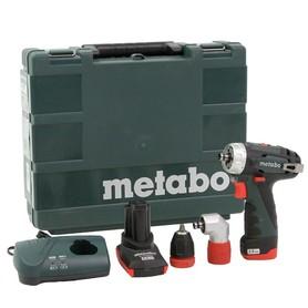 Metabo PowerMaxx BS Quick Basic Pro wiertarko-wkrętarka 10,8V 1x2,0Ah/1x4,0Ah w walizce 600157500