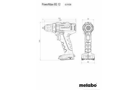Metabo PowerMaxx BS 12 wiertarko-wkrętarka 12V 2x2,0Ah w walizce 601036500