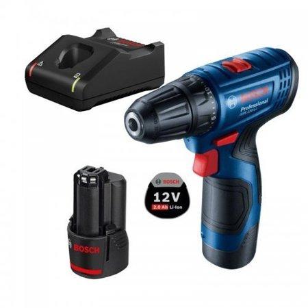 Bosch GSR 120-Li wiertarko-wkrętarka 12V 2x2,0Ah 30/14Nm w walizce 06019G8000