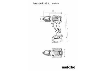 Metabo PowerMaxx BS 12 BL wiertarko-wkrętarka 12V 2x4,0Ah 45/18Nm LiHD w walizce 601038800