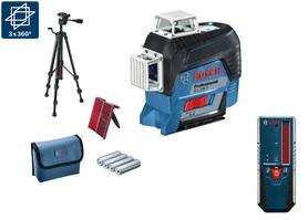 Bosch GLL 3-80 C laser liniowy 3-płaszczyznowy + statyw BT150 + odbiornik laserowy LR6 w torbie 0601063R01