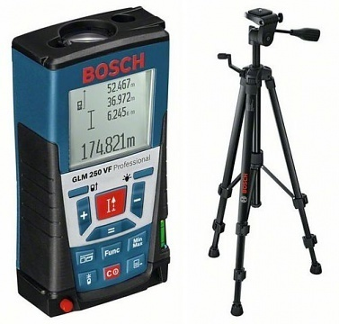 Bosch GLM 250 VF dalmierz laserowy + BT150 statyw 061599402J