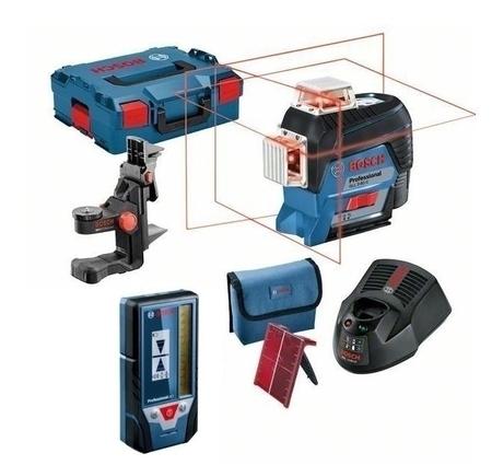 Bosch GLL 3-80 C laser liniowy 3-płaszczyznowy + uchwyt BM 1 + odbiornik laserowy LR7 w L-Boxx 0601063R05