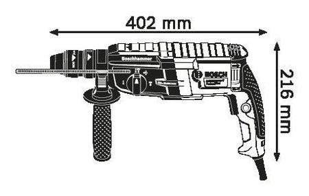 Bosch GBH 2-28 F + GDE 16 Plus