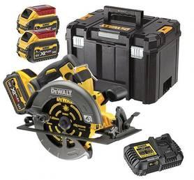 DeWalt DCS578T2-QW akumulatorowa ręczna pilarka tarczowa 190 mm 54V/18V 2x6,0Ah XR Flexvolt silnik bezszczotkowy w walizce