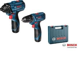 Bosch GSR 120-Li wkrętarko-wiertarka + GDR 120-Li wkrętarka udarowa, zestaw 2x1,5Ah w walizce 06019F0002