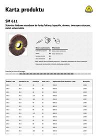 KLINGSPOR ŚCIERNICA LISTKOWA NASADZANA SM611 200mm x 50mm gr.120