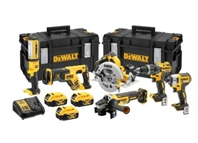 DeWalt DCK623P3-QW akumulatorowy zestaw Combo DCD796+DCF887+DCS570+DCG405+DCS367+DCL050 18V 3x5,0Ah w walizkach