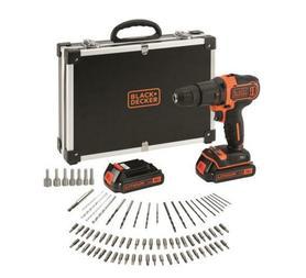 Black&Decker BDCHD18BAFC-QW wiertarko-wkrętarka udarowa 18V 2x1,5Ah z akcesoriami 80 elementów w walizce
