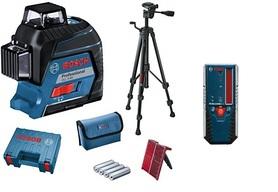 Bosch GLL 3-80 laser liniowy + BT150 statyw + LR6 odbiornik 06159940KD+