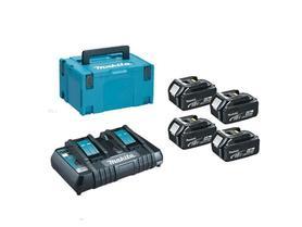Makita 197626-8 zestaw zasilający 18V 4xBL1850B akumulator 5,0Ah + ładowarka DC18RD w walizce