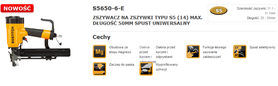 BOSTITCH ZSZYWACZ PNEUMATYCZNY 25-50mm S5