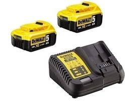 DeWalt DCB115P2-QW zestaw 18V XR DCB115 ładowarka wielonapięciowa + 2 akumulatory 5.0 Ah w kartonie
