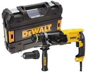 DeWalt D25134K-QS 3-funkcyjna młotowiertarka 26mm 800W 2,8J z szybkowymiennym uchwytem w walizce
