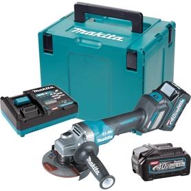 Makita GA029GM201 akumulatorowa szifierka kątowa 125 mm 40Vmax 2x4,0Ah XGT AWS z regulacją obrotów w walizce