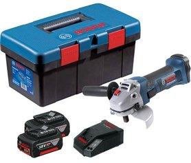 Bosch GWS 18-125 V-LI akumulatorowa szlifierka kątowa 125 mm 18V 2x4,0Ah w walizce Tool Box PRO 0615990L2D