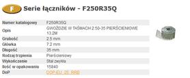 BOSTITCH F250R35Q GWOŹDZIE F