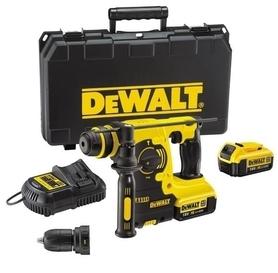 DeWalt DCH254M2-QW akumulatorowa 3-funkcyjna młotowiertarka 18V 2x4,0Ah 2,1J XR Li-Ion SDS-Plus z wymiennym uchwytem w walizce