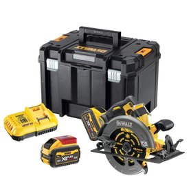 DeWalt DCS578X2-QW akumulatorowa ręczna pilarka tarczowa 190 mm 54V/18V 2x9,0Ah XR Flexvolt silnik bezszczotkowy w walizce