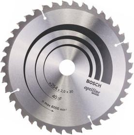 Bosch Opti piła tarczowa do cięcia drewna 254x30x2,0 mm 40 zębów 2608640435