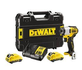 DeWalt DCF801D2-QW akumulatorowy zakrętak udarowy 12V 2x2,0Ah 163Nm w walizce