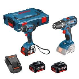Bosch GSR 18-2-LI Plus wiertarko-wkrętarka + GDR 18V-Li klucz udarowy 18V 3x4,0Ah w L-Boxx 0615990J5E