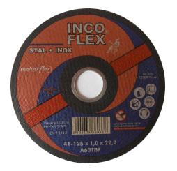 INCOFLEX TARCZA DO CIECIA STALI + STAL NIERDZEWNA (INOX) 115 x 1,0 x 22,2mm