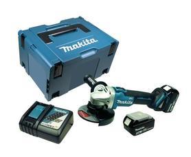 Makita DGA506RTJ akumulatorowa szlifierka kątowa 125 mm 18V 2x5,0Ah Li-Ion silnik bezszczotkowy w walizce