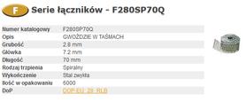 BOSTITCH FAC 2,80-70 SPIRA Q GWOŹDZIE 2,8x70 mm 6000 szt.
