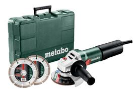 WEQ 1400-125 Set szlifierka kątowa 125 mm 1400W + 2 x tarcze diamentowe 125 mm w walizce 600347510