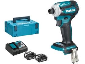 Makita DTD171RTJ akumulatorowy zakrętak udarowy 18V 2x5,0Ah 180Nm 4 tryby wkręcania w walizce