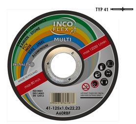 INCOFLEX  TARCZA UNIWERSALNA METAL / PCV / BETON 125 x 1,0mm MULTI M415-125-1.0-22A60Rm