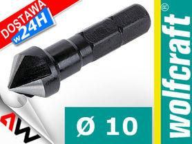 WOLFCRAFT FAZOWNIK/POGŁĘBIACZ STOŻKOWY 10mm HSS UCHWYT 6-KĄTNY