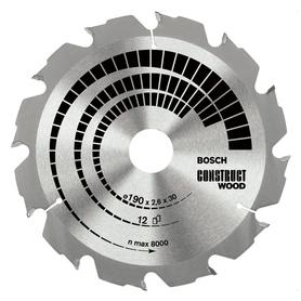 Bosch Construct Wood piła do cięcia drewna 190x20x2,6 mm 12 zębów 2608641201