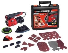Black&Decker KA280K-QS szlifierka wielofunkcyjna 220W Autoselect® 4 w 1 + 19 akcesoriów w walizce