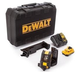 DeWalt DCE088D1G-QW laser samopoziomujący 2-wiązkowy do wyznaczania pionu i poziomu 10,8V 1x2,0Ah - zielony w walizce