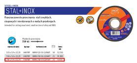 INCOFLEX TARCZA DO METALU 230 x 1,9mm INOX