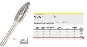 KLINGSPOR FREZ DO METALU HF 100 H FI=12,7x32mm TRZPIEŃ 6mm, PŁOMIEŃ