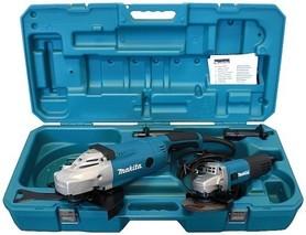 Makita DK0053 zestaw GA9020 szlifierka kątowa 2200W 230 mm + 9558HNR szlifierka kątowa 840W 125 mm w walizce