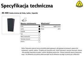 K.SIATKA ŚCIERNA AS400 gr. 40 /50szt. 115mm x 280mm