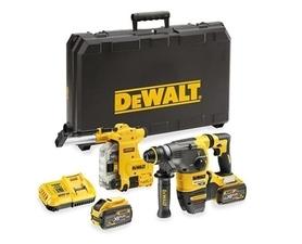 DeWalt DCH335X2-QW akumulatorowy młot udarowo-obrotowy 54V/18V 3,5J 2x9,0Ah XR z systemem odpylającym w walizce